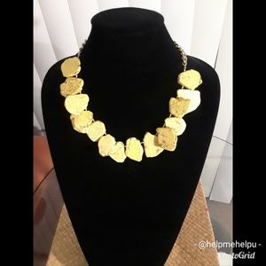 BEAUTIFUL YELLOW ROCK TEXTURED NECKLACE
